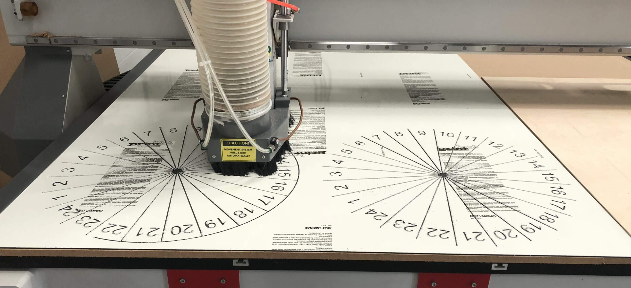 cnc router cutting and engraving plastics